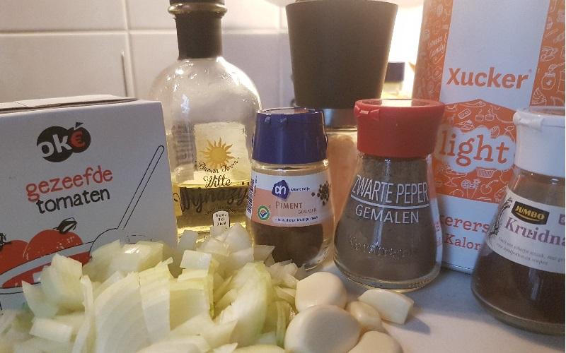 Ingredienten ketchup | lowcarb-rita.nl